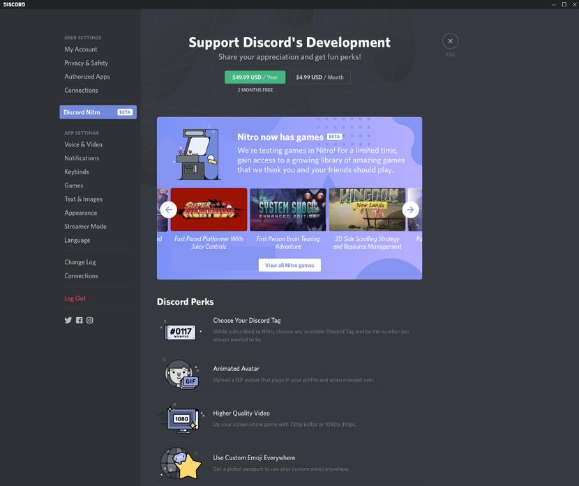Discord lance sa propre boutique de jeux vidéo