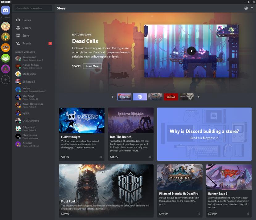 Discord va vendre des jeux vidéo et en offrir aux abonnés Nitro