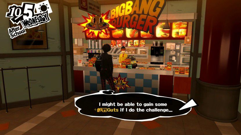 Big Bang Burger (Persona 5) : un lieu où gonfler son... courage