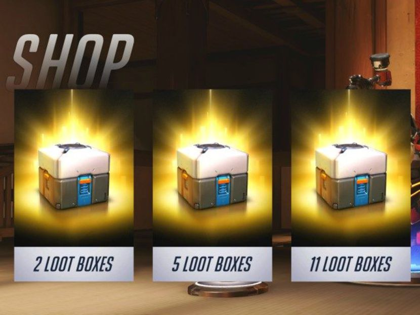 Les loot boxes de Overwatch