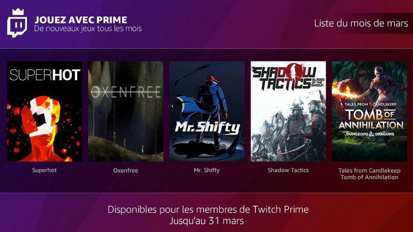 L'abonnement Twitch Prime contient désormais des jeux indépendants