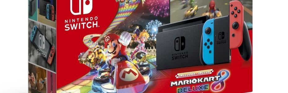 Nintendo lance un bundle Switch avec Mario Kart 8 Deluxe pour les fêtes