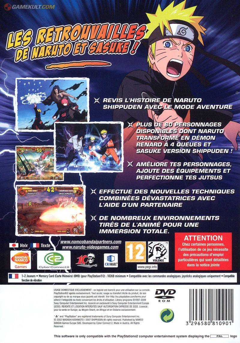 telecharger jeux naruto shippuden ultimate ninja 5 ps2 gratuit
