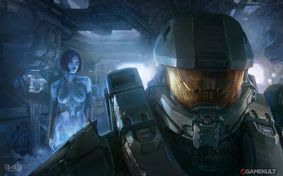 Le Master Chief et Cortana - Halo 4 - Artwork