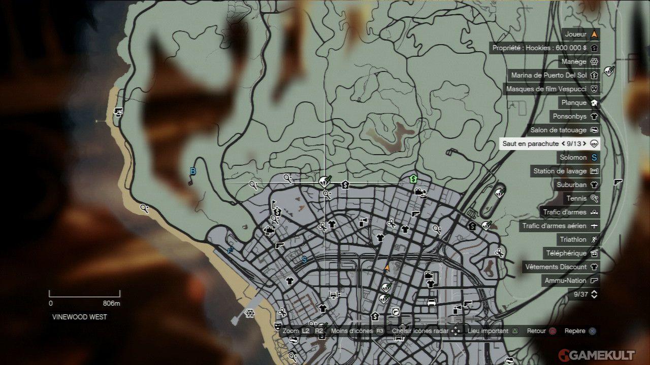 Grand Theft Auto V Parachutisme Base Jumps Gamekult