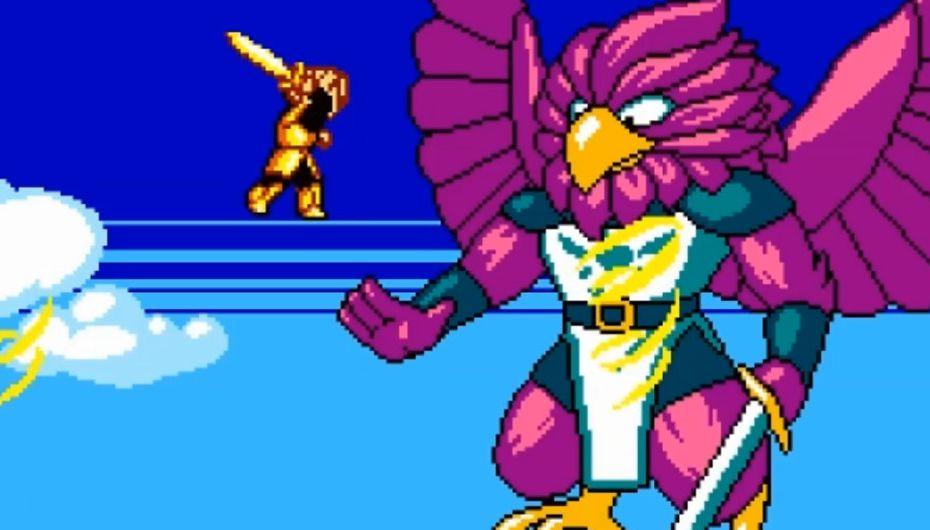 boss aigle jeu 2D style zelda II Aggelos sur switch